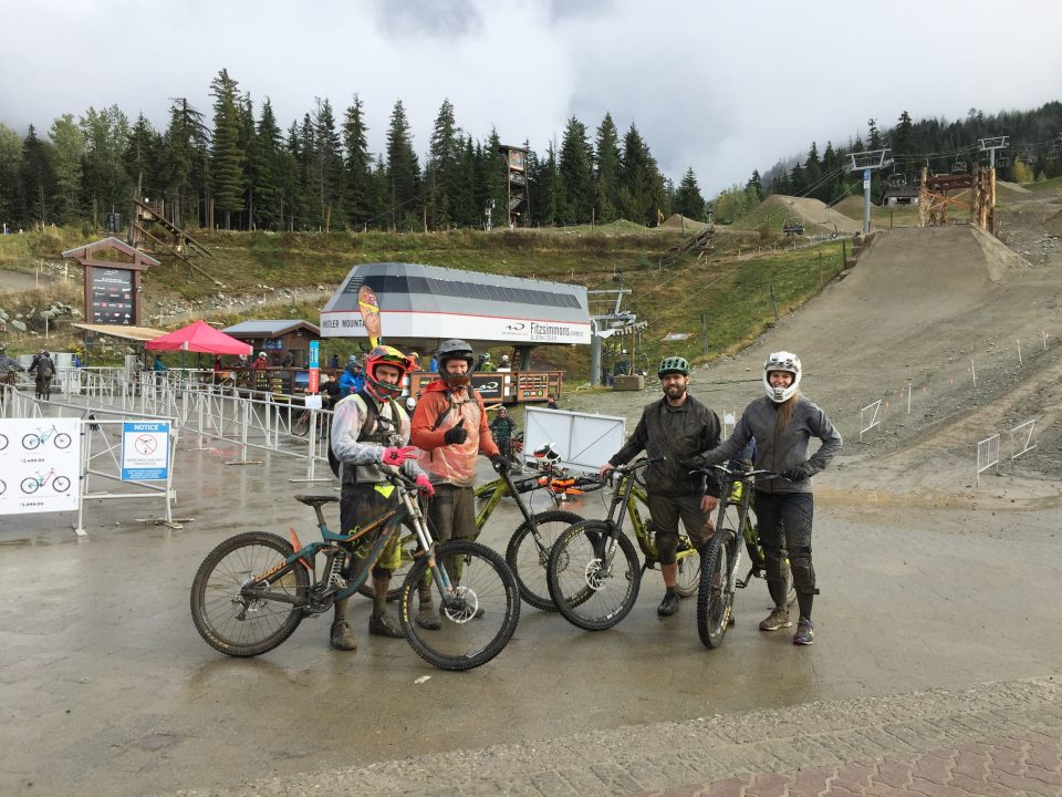 Erik, Jeff, and Monika Mountain Biking
